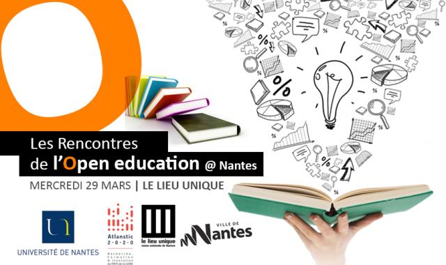Les rencontres Open Education à Nantes – le 29 mars 2017 au Lieu Unique