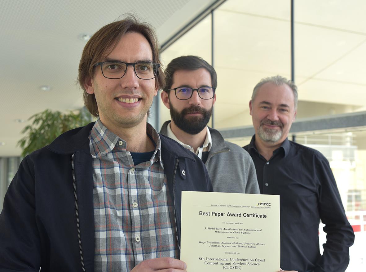 L'article du projet CoMe4ACloud récompensé : «Best Paper Award» lors de la conférence CLOSER 2018