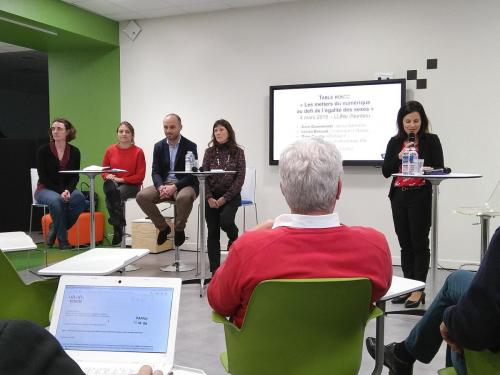 """conférence """"Les métiers du numérique un défit de l'égalité des sexes"""""""